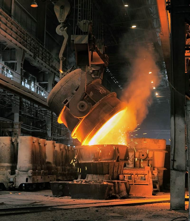 Smelting of metal